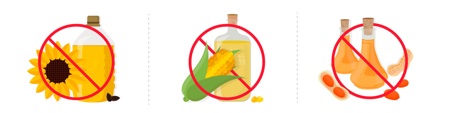No vegetable seed oils