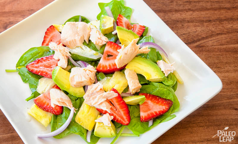 Spinach strawberry avocado salad
