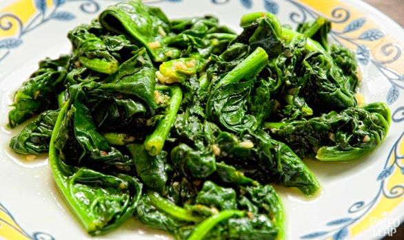 Spinach preparation