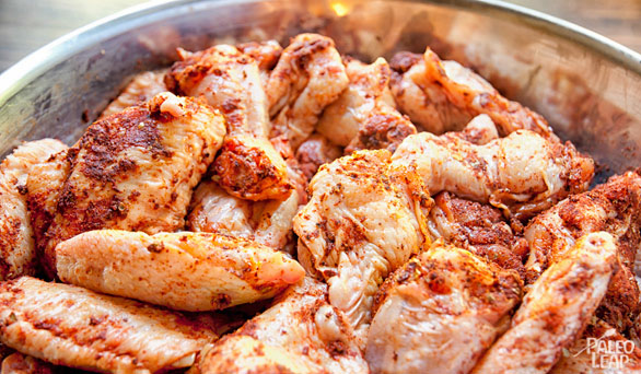 BBQ Chicken Wings preparation