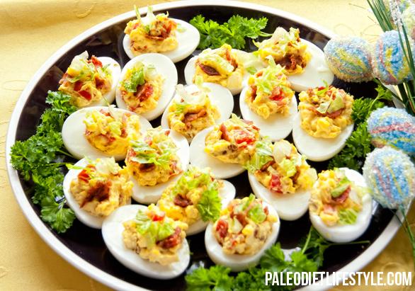 faszerowane jajka paleo