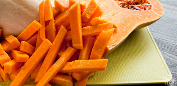 Butternut Squash Fries preparation