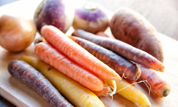Carrot Potage preparation