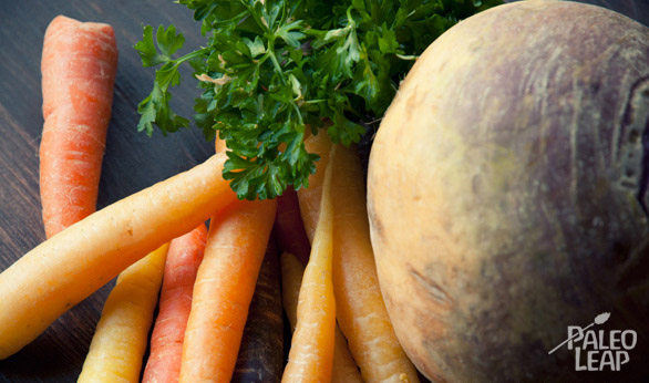 Carrots and Rutabaga Mash preparation