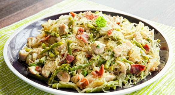 Chicken Asparagus Carbonara