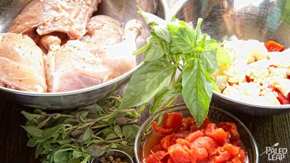 Chicken Cacciatore preparation