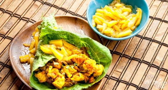 Chicken Curry Rolls With Mango Chutney   Paleo Leap