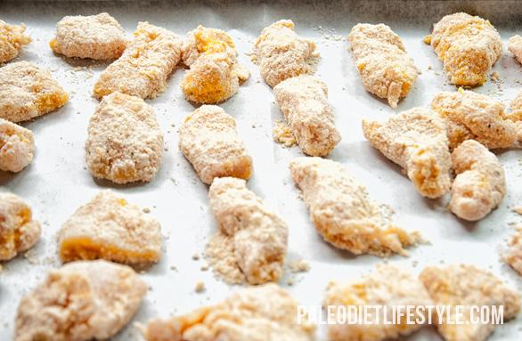 Baked Chicken Nuggets Preparation