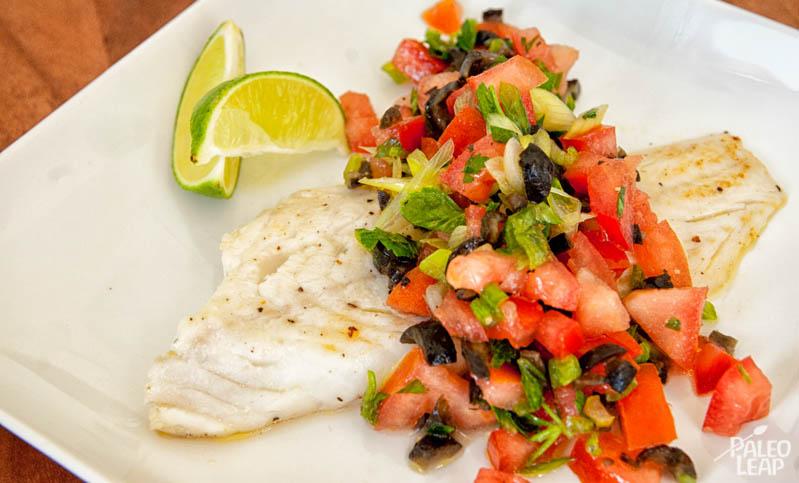 Cod With Italian Style Salsa