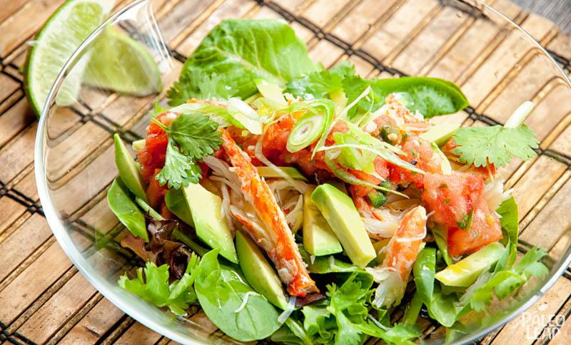 Crab Taco Salad
