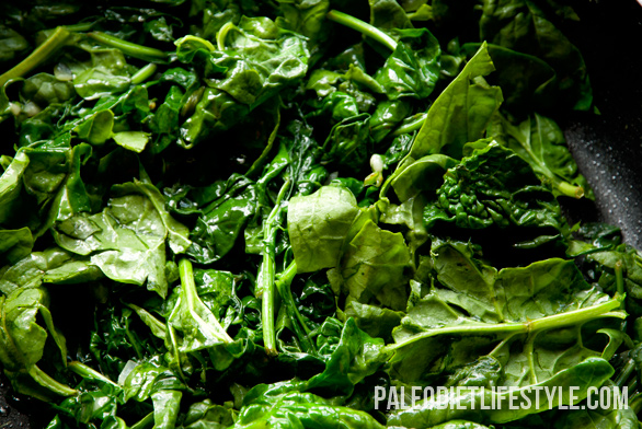 Creamed spinach preparation