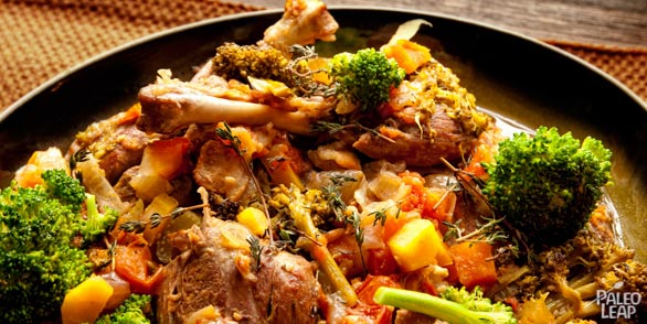 Braised Duck Legs with Mix Vegetables