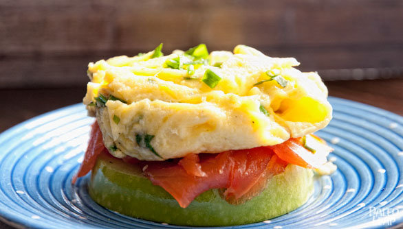 Egg and Smoked Salmon Open-Faced Apple Sandwich