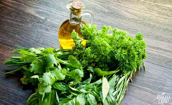Fresh Herbs In Olive Oil preparation