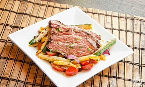 Grilled Steak With Summer Vegetables
