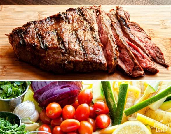 Grilled Steak And Summer Veggies preparation
