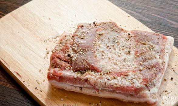 Homemade bacon preparation1