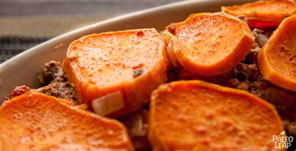 Lamb and sweet potato cottage pie