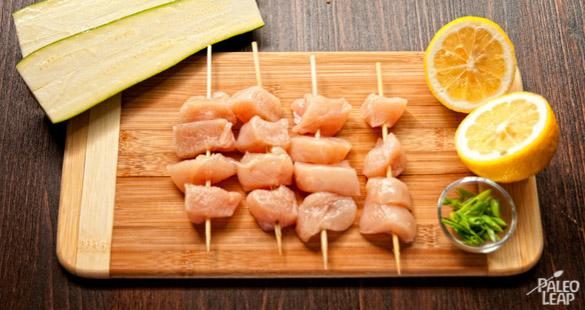Lemon Chicken Kebabs preparation