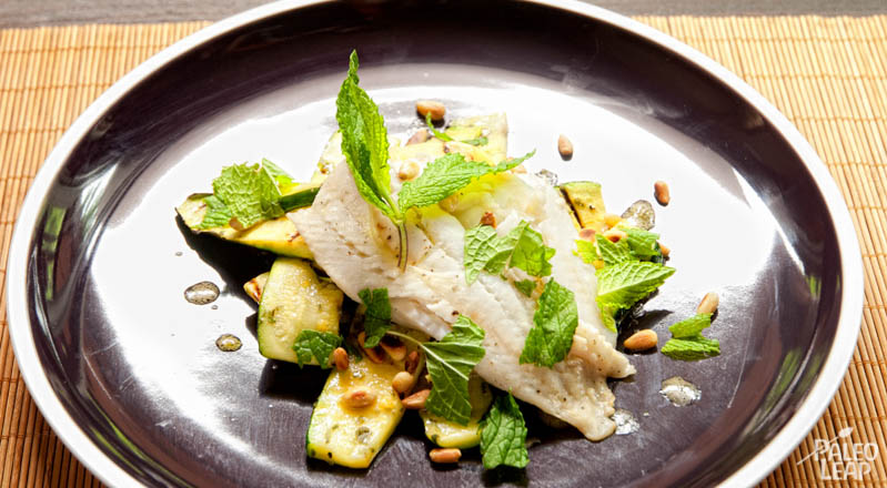 Grilled Lemon-Herb Zucchinis with Sole