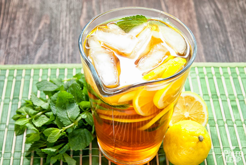 Lemon Mint Iced Tea | Paleo Leap