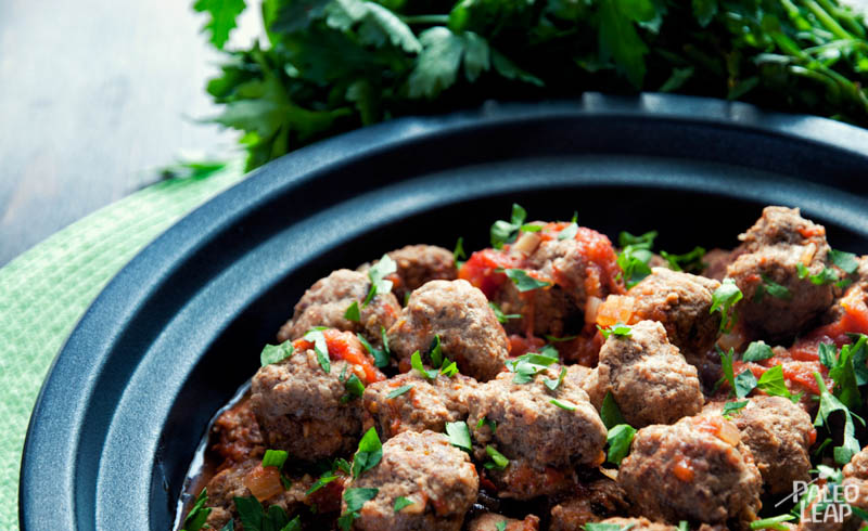 Meatballs With Spicy Tomato Sauce | Paleo Leap