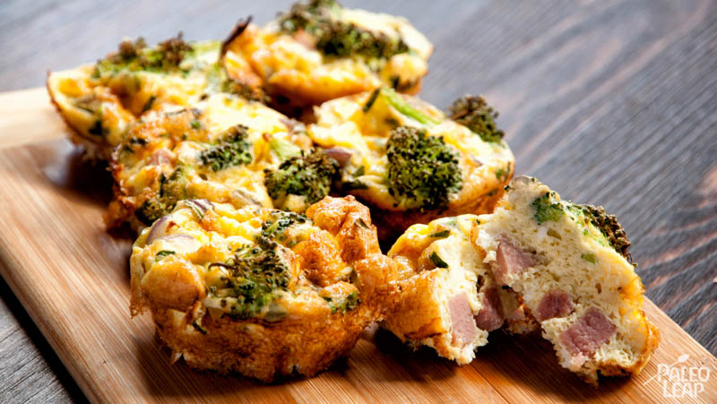 Mini Ham And Broccoli Frittatas