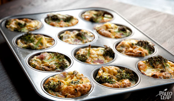 Mini Ham And Broccoli Frittatas cooked