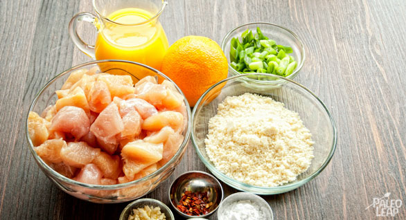 Orange Chicken preparation