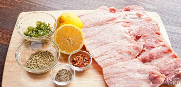 Porchetta preparation