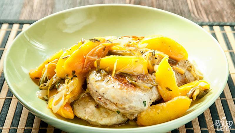 Pork Chop With Peaches