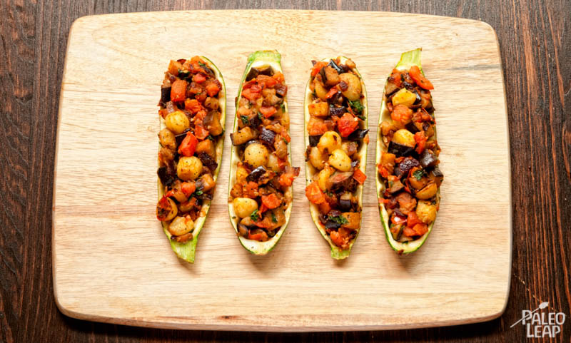 Ratatouille Stuffed Zucchini