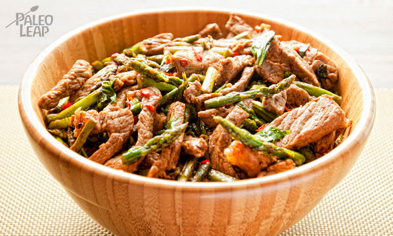 Basil and chili beef stir-fry