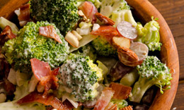 Bacon, grape and broccoli salad