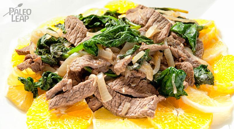 Citrus beef salad stir-fry