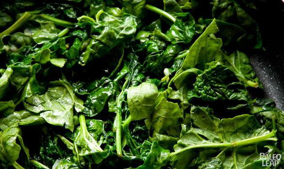 Creamed spinach preparation