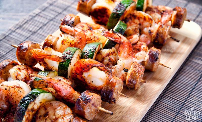 recipe: easy steak and shrimp kabobs [13]