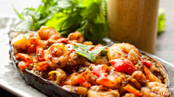 Shrimp Stuffed Eggplant