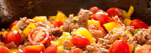 Veal stuffed bell peppers preparation