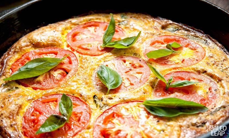 Tomato Basil Frittata | Paleo Leap
