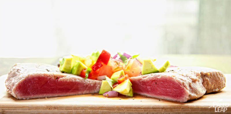Tuna With Avocado Salsa