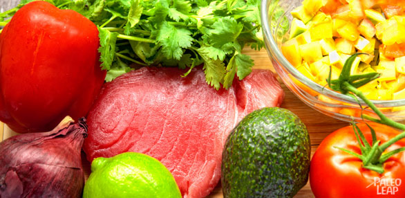 Tuna With Avocado Salsa preparation
