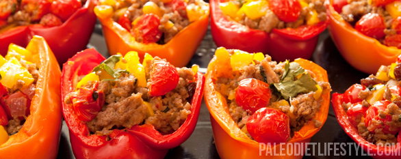 Veal stuffed bell peppers