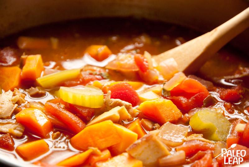 Winter Vegetable Soup preparation