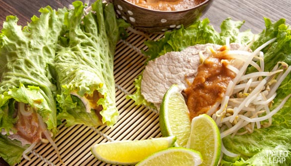 Thai Pork Lettuce Wraps   Paleo Leap