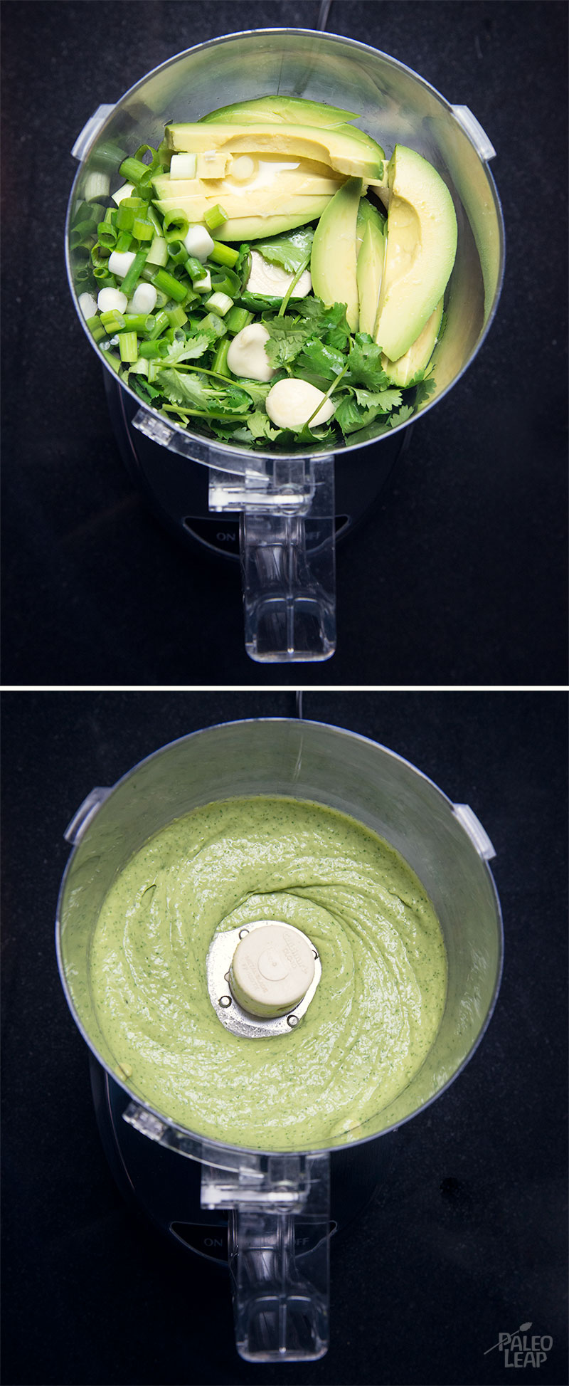 Avocado dipping sauce preparation