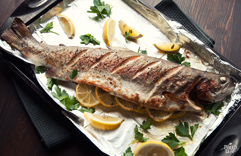 Cooking whole fish and grilled trout recipe paleo leap for How to cook salmon fish