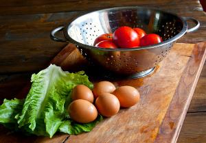 Zombie Bait | Egg and pesto stuffed tomatoes recipe