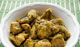 Green chicken masala