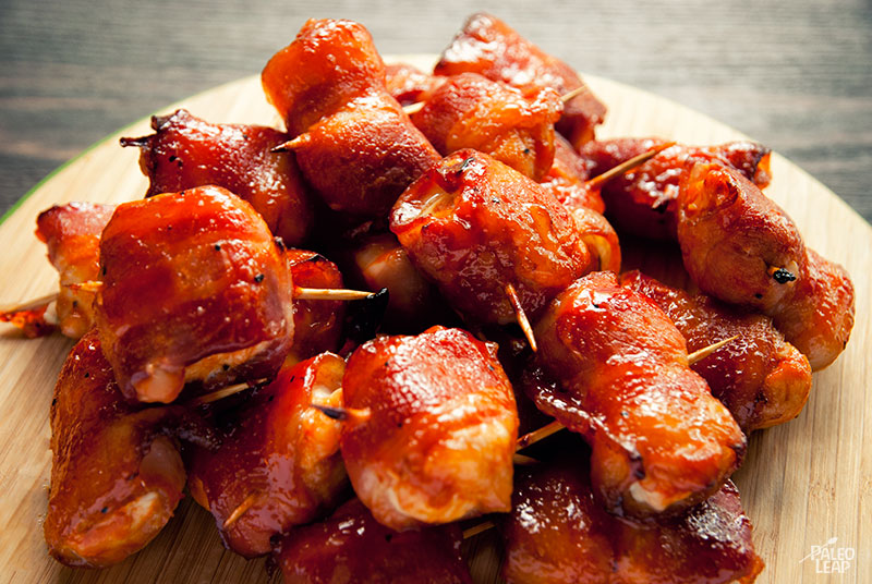 BBQ Chicken and bacon bites
